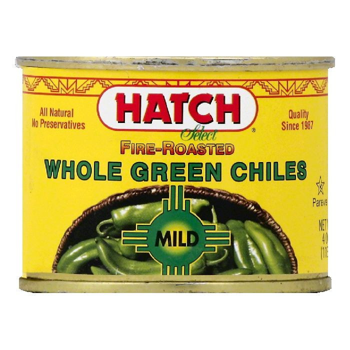 Hatch Mild Fire-Roasted Select Whole Green Chiles, 4 OZ (Pack of 12)