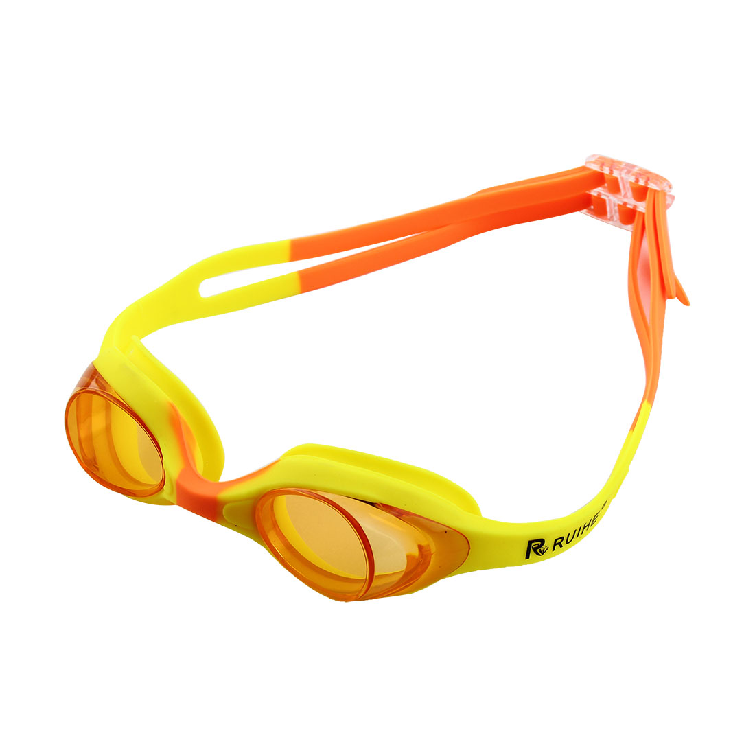 Clear Vision Anti Fog Swimming Goggles Glasses Yellow Orange for Youth