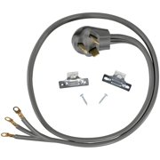 Certified Appliance Accessories 77051 3-Wire Closed-Eyelet 30-Amp Dryer Cord, 6ft