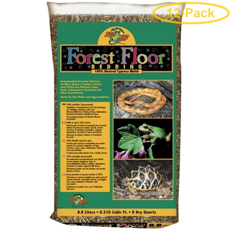 Zoo Med Forrest Floor Bedding - All Natural Cypress Mulch 8 Quarts - Pack of (Cypress Mulch)