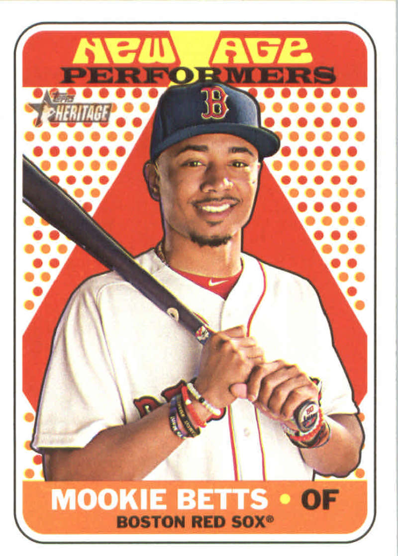 2018 Topps Heritage New Age Performers Nap 1 Mookie Betts Boston Red Sox Baseball Card