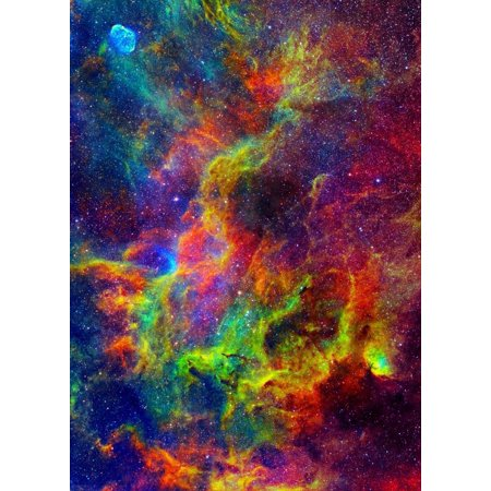 Outer Space Rainbow Nebula Edible Cake Topper Image ABPID00299V1](Outer Space Cake)