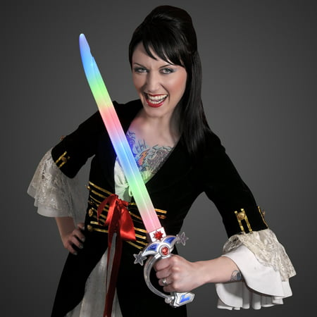 FlashingBlinkyLights Swashbuckler Pirate LED Light Up Sword with Battle Sound Effects - Sword Sound
