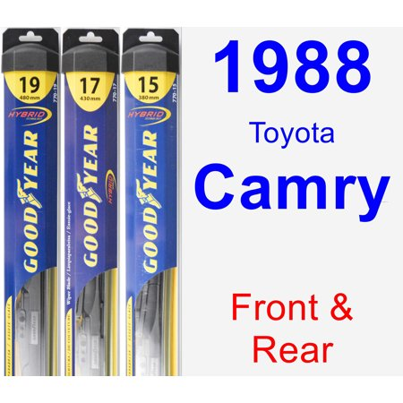 1988 Toyota Camry - 1988 Toyota Camry Wiper Blade Set/Kit (Front & Rear) (3 Blades) - Hybrid