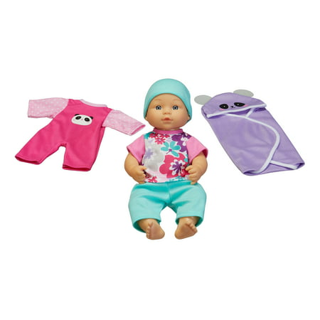 """My Sweet Love 12.5"""" Baby Doll & Outfits 6-Piece Play Set, Panda"""