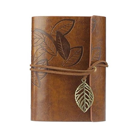 Vintage Dark Green Pu Leather Cover Loose Leaf Blank Notebook Journal Diary Brown Best