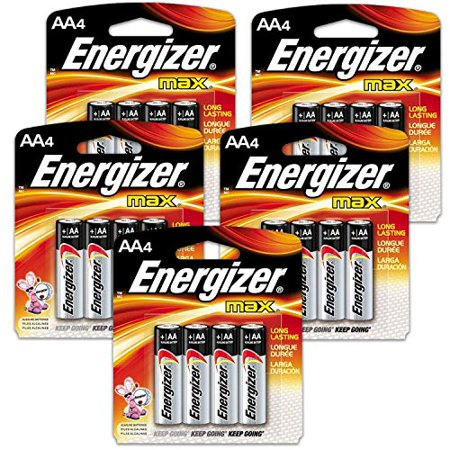 20 Count Energizer Max AAA Batteries - 5 Pack of 4 AAA4 Total of 20 Batteries, The Perfect Choice of Power for All AAA Battery Operated Devices 20 Count Energizer Max AAA Batteries - 5 Pack of 4 AAA4 Total of 20 Batteries, The Perfect Choice of Power for All AAA Battery Operated Devices