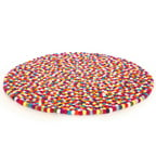 Walk On Me Happy as Larry Original Felt Ball Kids Round Rug