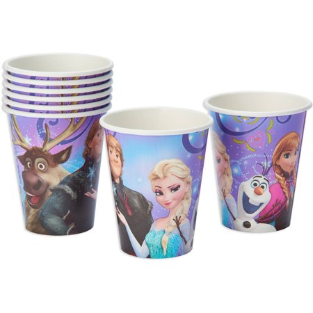 Party De Frozen (Frozen Magic Paper Party Cups, 9 oz,)