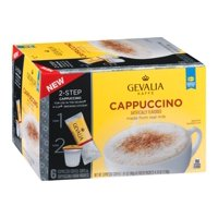 Gevalia Cappuccino K Cups with Froth Packets, 5.6 OZ (Pack of 6)