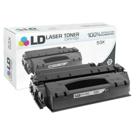 (Compatible High Yield Black Laser Toner Cartridge for Hewlett Packard HP Q7553X - (53X))