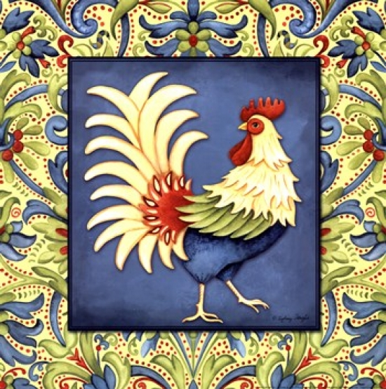 Country Rooster I Poster Print by Sydney Wright (12 x 12)
