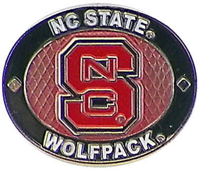 North Carolina State Wolfpack Oval Pin by