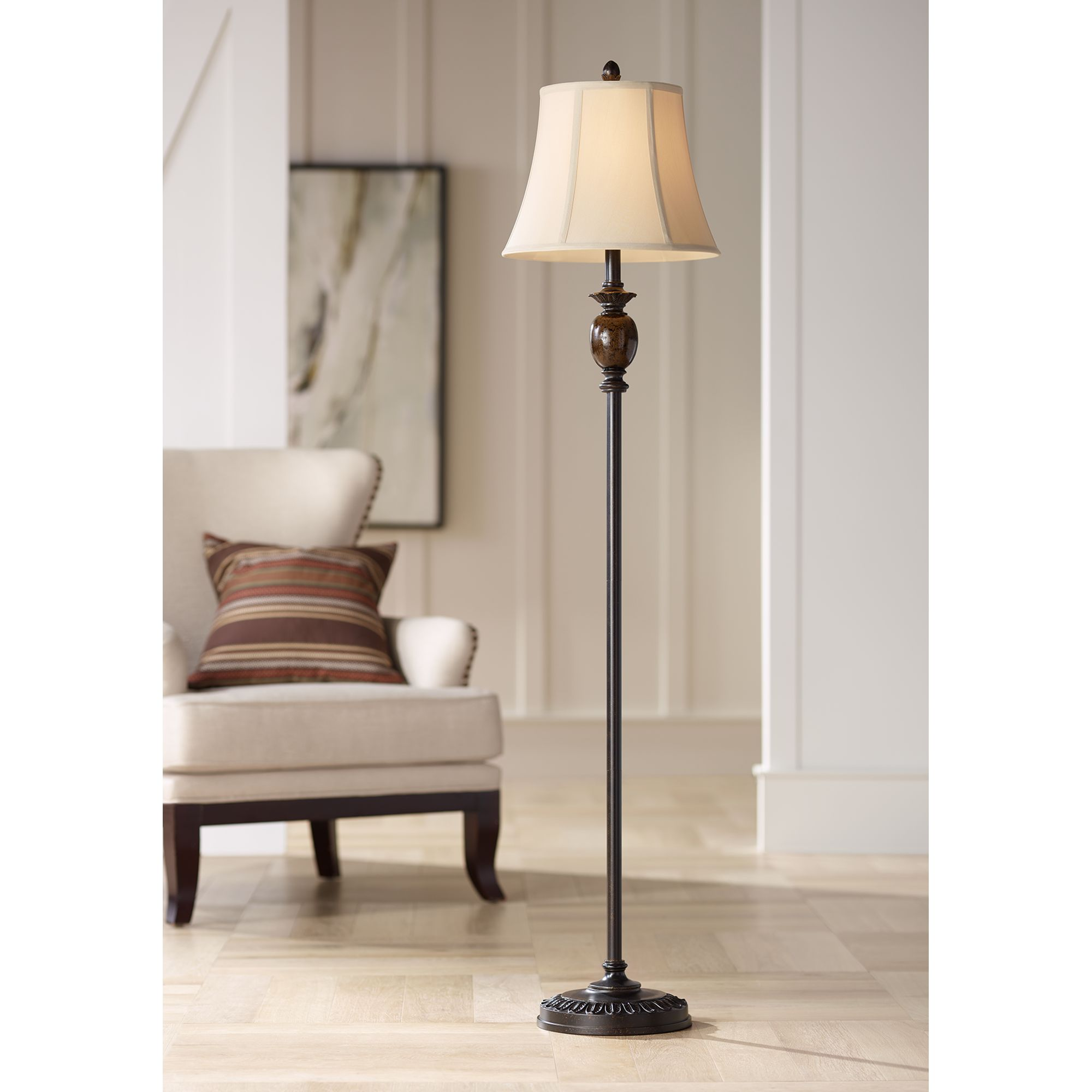 Regency Hill Corrie Club Bronze Floor Lamp