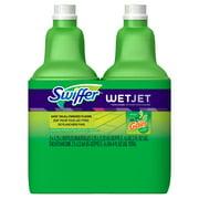 Swiffer WetJet Multi-Purpose and Hardwood Liquid Floor Cleaner Solution Refill, with Gain Scent (2 count, 42.2 fl oz each)