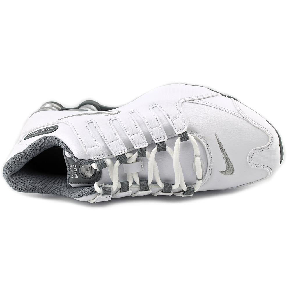 Nike - Nike Shox NZ EU Women Round Toe Leather White Running Shoe -  Walmart.com 8d9b7ef5f