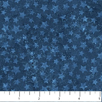 Stonehenge Land of the Free Blue Stars 20160-49 Cotton fabric by Northcott