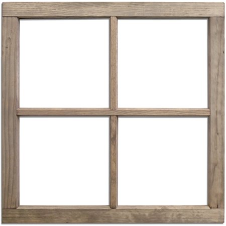 4-Pane Wood Window Frame 28
