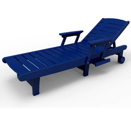 Chaise lounge by malibu outdoor delray blue for Blue outdoor chaise lounge