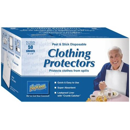 - Napkleen Disposable Bib / Clothing Protector Pack of 50 by Complete Care Shop