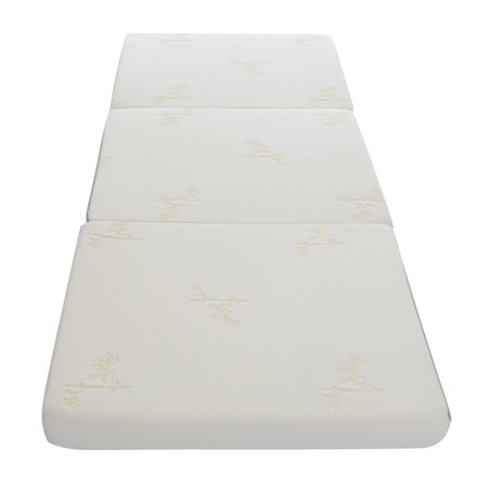 Milliard Tri Folding Mattress, with Ultra Soft Removable Cover and Non-Slip Bottom (75