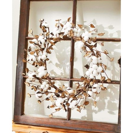 Cotton Wreath, Works in any room By The Lakeside Collection](Cotton Boll Wreath)