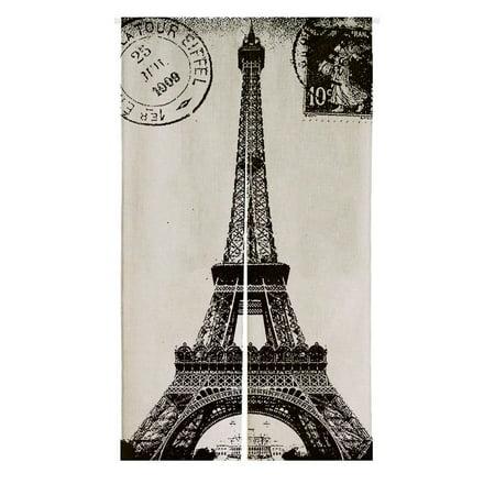 Gckg Frech Paris Eiffel Tower City Of Love Black White Japanese Noren Doorway Curtain Doorway Curtain Door Curtain Entrance Curtain Size 85x150cm Walmart Com Walmart Com