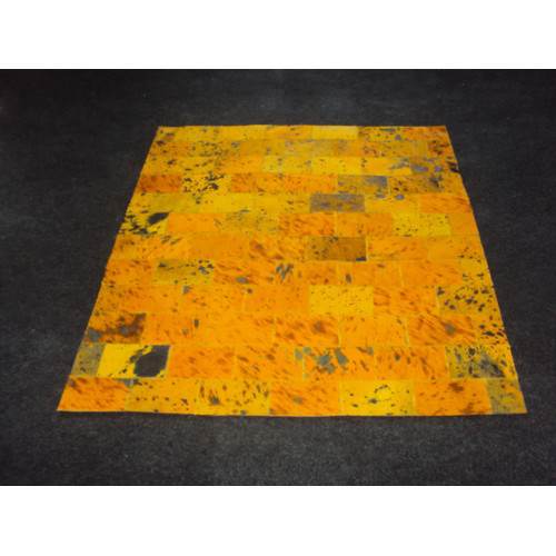 Modern Rugs Patchwork II Yellow Citrine Area Rug