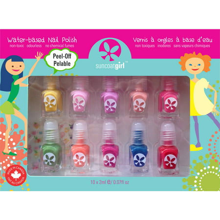Kids Washable, Water Based Nail Polish Party Palette
