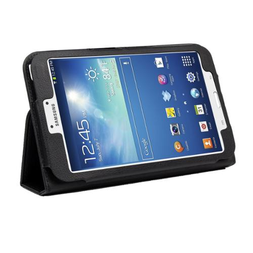 "Black Double-Fold Folio Case for Samsung Galaxy Tab 3 8.0"" Tablet"