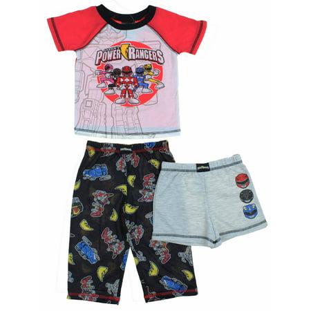 Komar Kids Boys Character 3-Piece Pajama Set ( Power Rangers, - Kid In Spongebob Pajamas