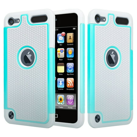 iPod Touch 5 Case,iPod Touch 6 Case,Heavy Duty High Impact Armor Case Cover Protective Case for Apple iPod touch 5 6th Generation - Mint ()
