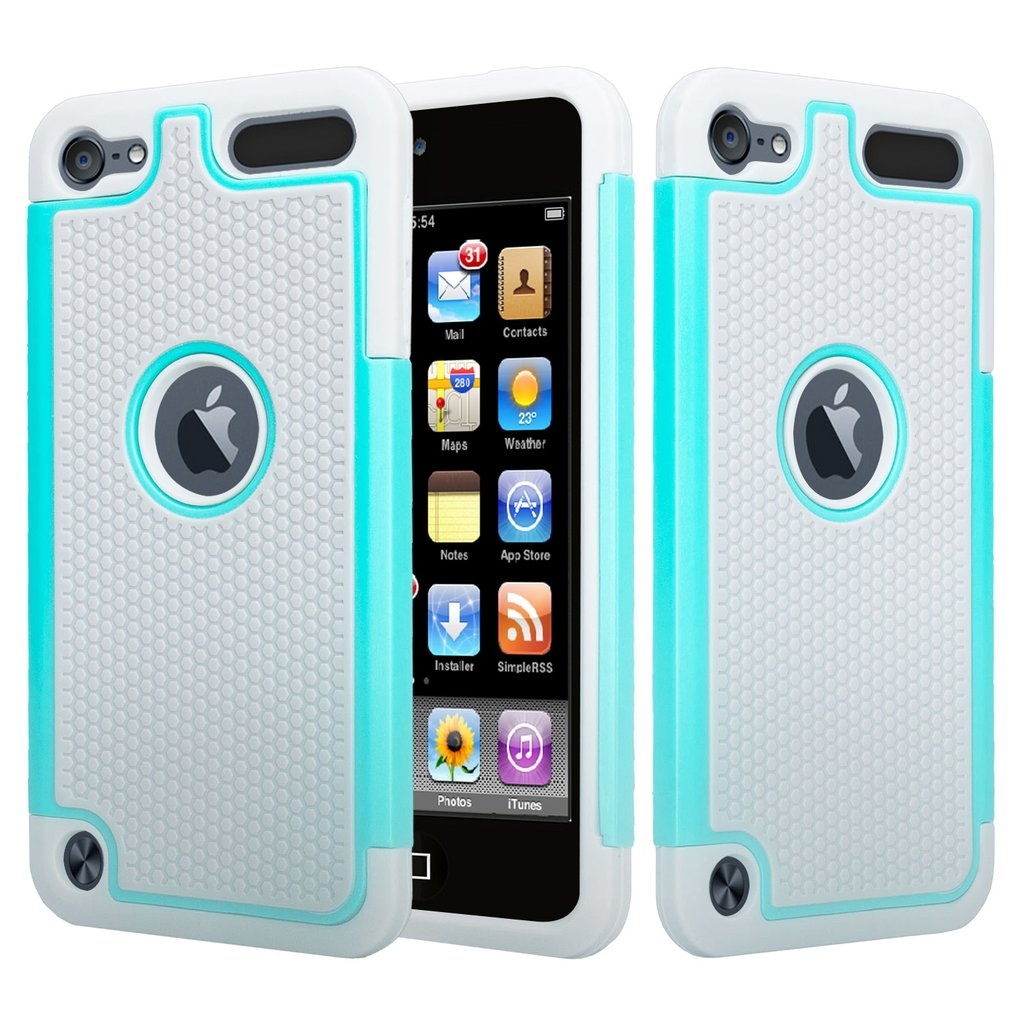 iPod Touch 5 Case,iPod Touch 6 Case,Heavy Duty High Impact Armor Case Cover Protective Case for Apple iPod touch 5 6th Generation - Mint