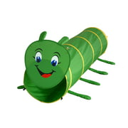 GigaTent Pop Up 6 Feet Long Caterpillar Play Tunnel For Pets & Kids