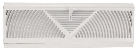 AMERICAN METAL PRODUCTS 15-Inch White Baseboard Diffuser 3015W15