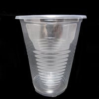 140 x Disposable Clear Plastic Cups 7oz Heavy Duty Drink Party Bar Office Soda