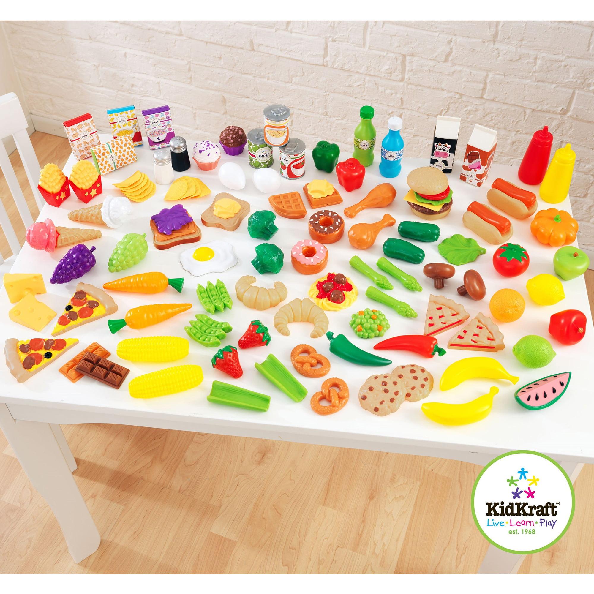 KidKraft Tasty Treats Play food Set, 115 Pieces