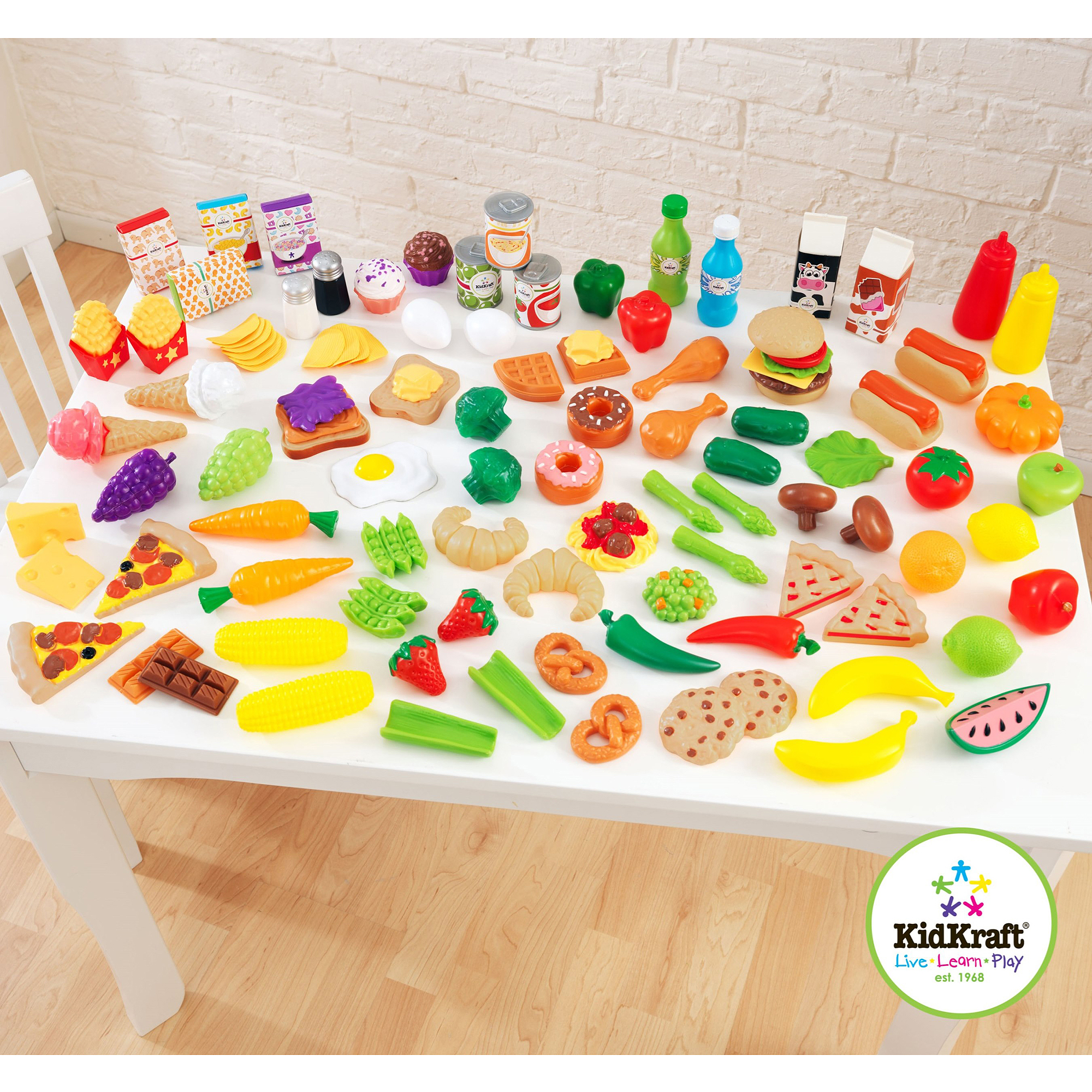 KidKraft Tasty Treats Play food Set, 115 Pieces
