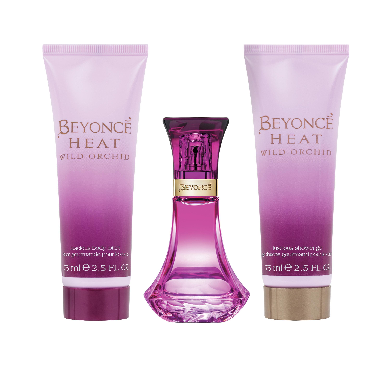 Beyonce Heat Wild Orchid Lotion, Shower Gel & Eau de Parfum ...