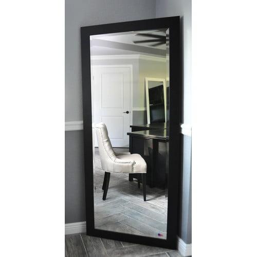 Rayne Mirrors Jovie Jane Black Satin Full Length Beveled