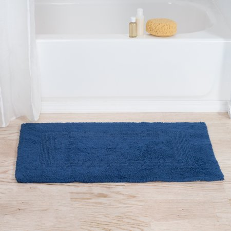 Cotton Reversible Bath Mat 100 Percent Cotton Soft And