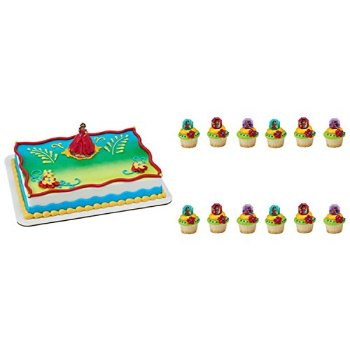 A1BakerySupplies Elena Of Avalor Cake Topper Decoration And 24 Cupcake Rings