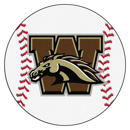 - 663 Fanmats College NCAA Western Michigan University 27 Inch diameter Nylon Face durable Non-skid chromojet-printed washable Baseball Mat