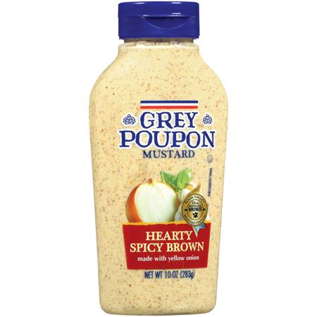 Grey Poupon Hearty Spicy Brown Mustard, 10 oz - Walmart.com