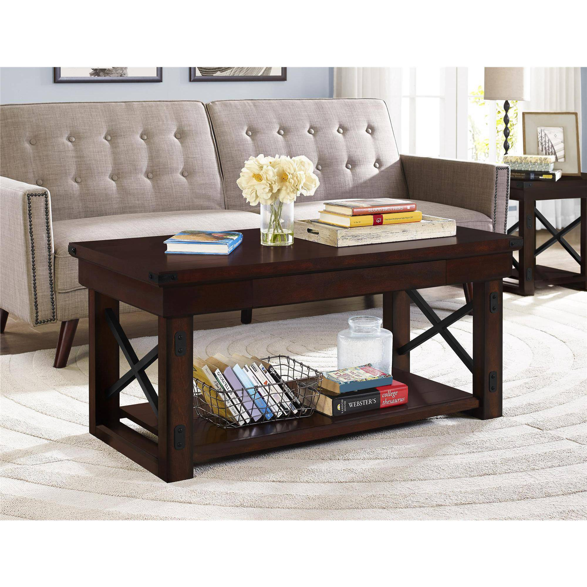 Better Homes and Gardens Preston Park Coffee Table Mahogany