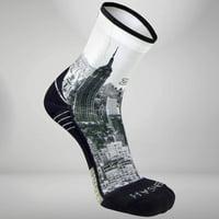 Zensah NYC Empire State Socks (Mini Crew) S / Greyscale