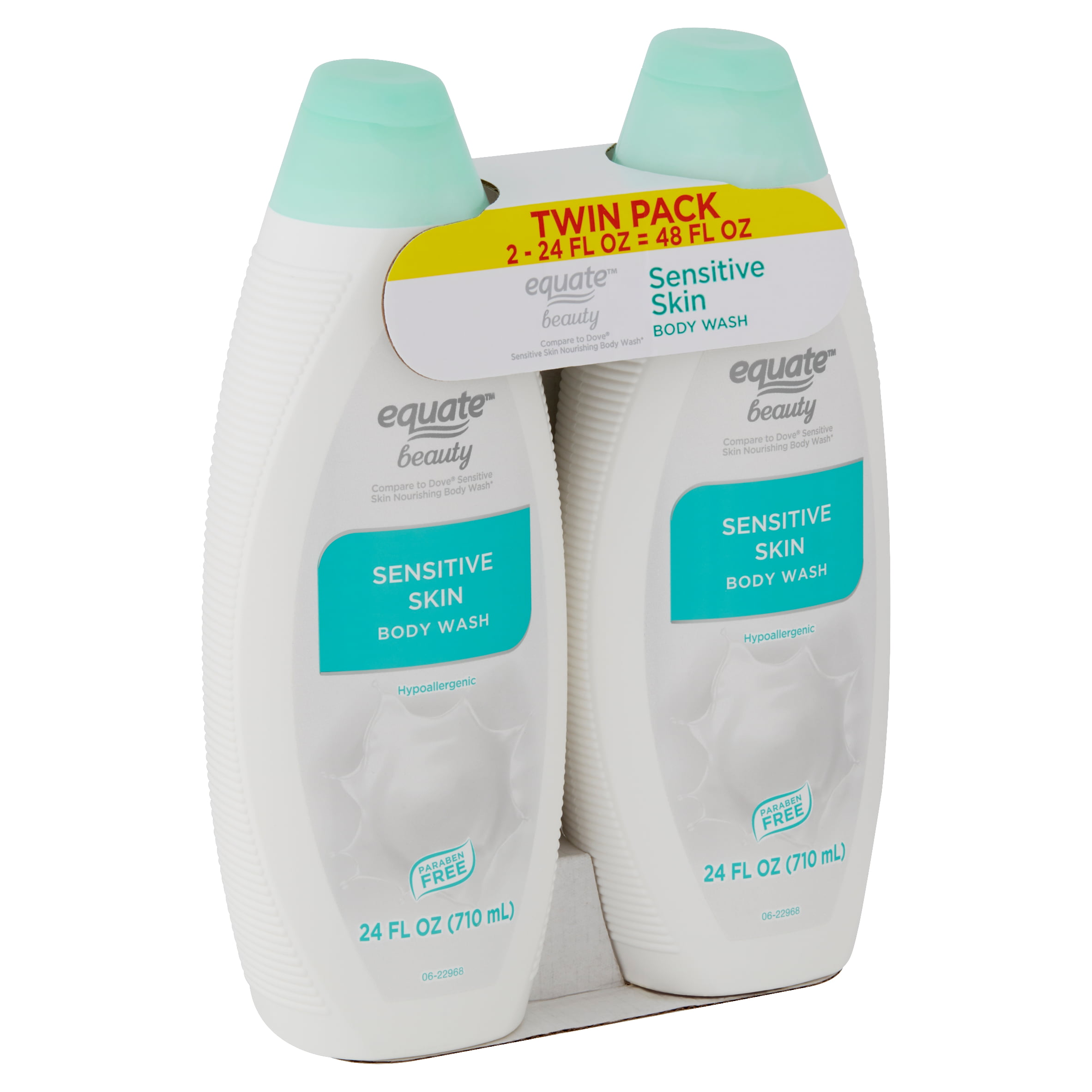 Equate Beauty Sensitive Skin Body Wash Twin Pack 48 Fl Oz 2 Count Walmart Com Walmart Com