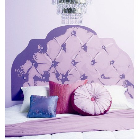 Wallies tufted headboard wall mural for Mural headboard
