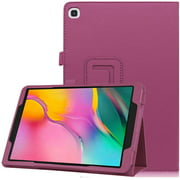 "(SM-T510/SM-T515) Galaxy Tab A 10.1"" 2019 Folio Case, EpicGadget Lightweight Slim Cover PU Leather Case Stand Cover for Tab A 10.1 Tablet (Purple)"