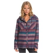 Wmns Roxy (Mood Indigo Stripe) Shore Hooded Button Up Shirt SMALL